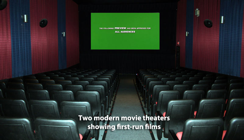 Two modern movie theaters